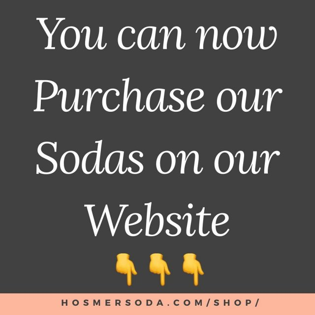 Check it out! hosmersodacom drinkhosmer hosmermountain soda onlinestore