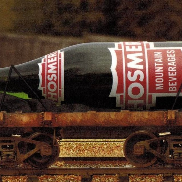 This 10 million oz Hosmer Bottle mounted on a railhellip