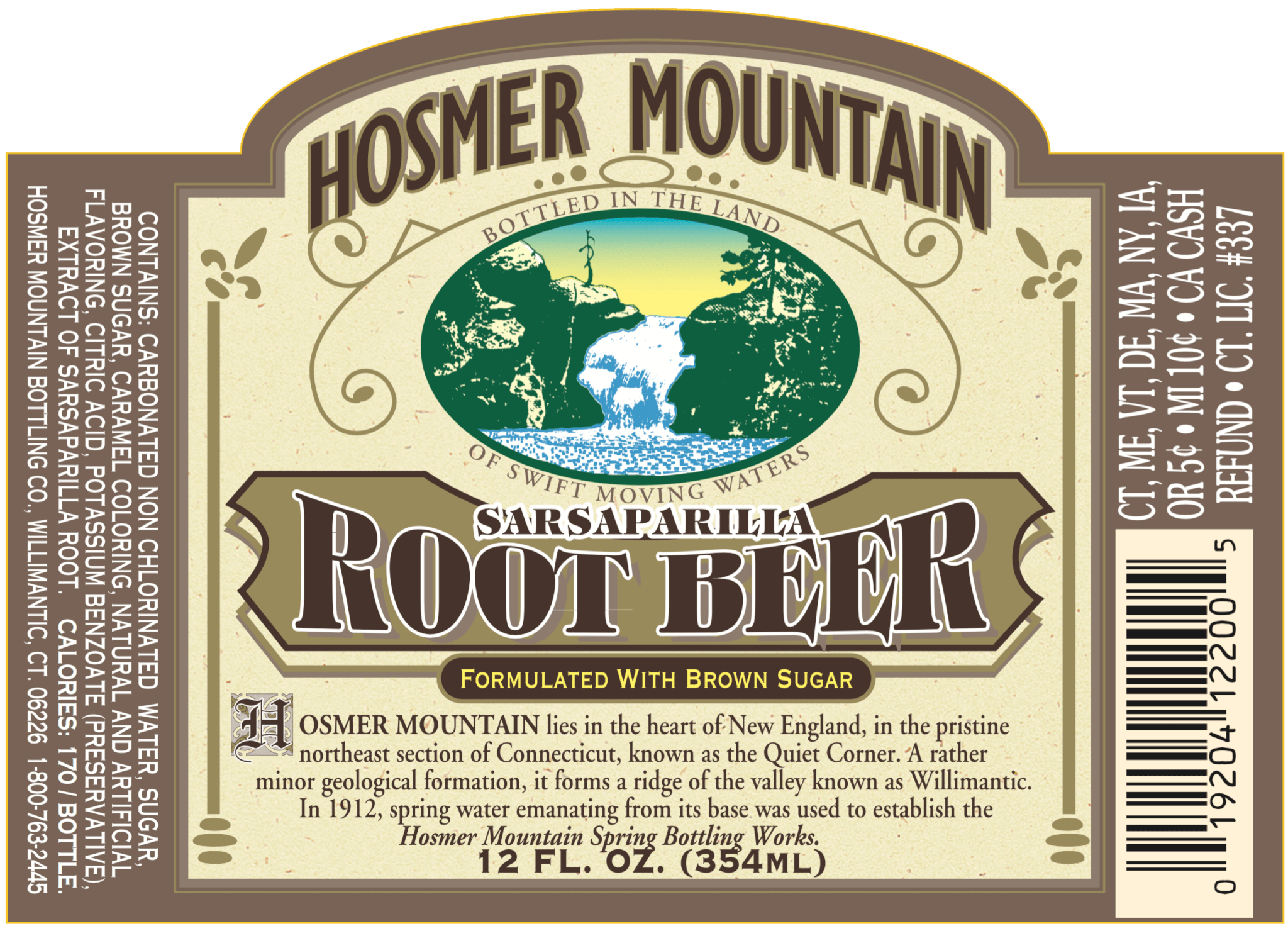 Award winning Root Beer featuring bold expertly blended flavors backed with brown sugar.  Balanced perfectly, the initial bite extends to with a creamy head and scrumptious finish.